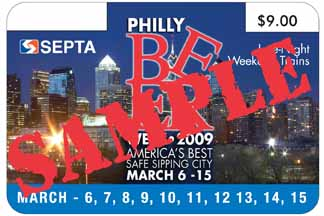 **corrected** SEPTA Philly Beer Week 2009 day pass