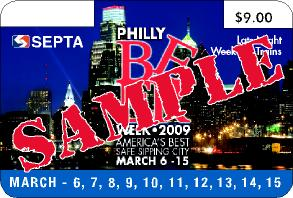SEPTA Philly Beer Week 2009 pass - 4th version