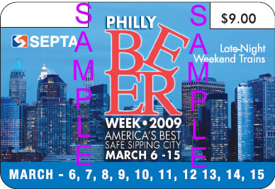 SEPTA Philly Beer Week 2009 pass