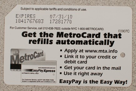 Get the MetroCard that refills automatically