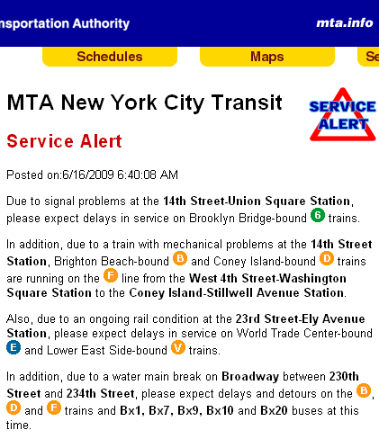 Those darn interns and their funny MTA SERVICE ALERT mistakes « The