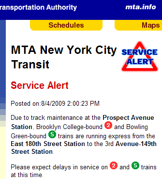 Oops: should say Flatbush Avenue-bound