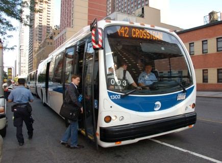 DesignLine EcoSaver IV hybrid electric bus makes NYC debut