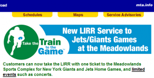 LIRR limited events meadowlands