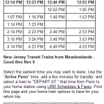 MTA LIRR - Get Me to the Game on Time- 1 PM Game Start