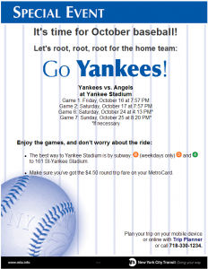 Poster updated for the ALCS