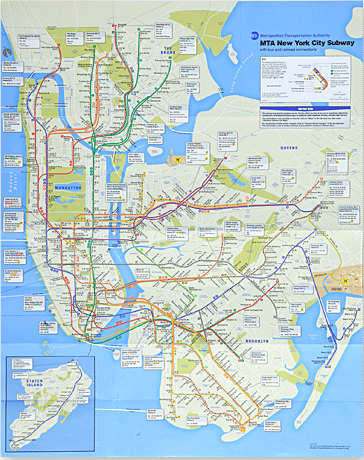 Nyc Subway Map Scan.Redesigned New York City Subway Map To Debut In June 2010 The