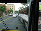 Layover stop @ Westwood on Broadway. Rockland Coaches Route 84. Photo taken by Brian Weinberg, 07/09/2003.