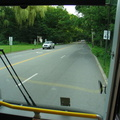 Harrington Avenue in River Vale. Rockland Coaches Route 84, southbound. Photo taken by Brian Weinberg, 07/09/2003.