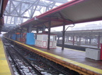 AirTrain Terminal construction and LIRR platforms @ Jamaica. Photo taken by Brian Weinberg, 02/23/2003. (117kb)