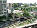 "Abandoned LIRR Bay Ridge Branch ""East New York"" Station as seen from the (L) @ Atlantic Av. Photo taken by Brian Weinb"