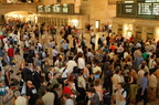 Grand Central Terminal. Very crowded main waiting room. Photo taken by Brian Weinberg, 6/1/2007.