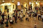 Grand Central Terminal. Very crowded main waiting room. This is the back of the line for the TVMs. Photo taken by Brian Weinberg