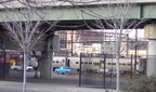A peek into NJT's coach yard west of Hoboken Terminal @ Washington St entrance in Newport. Photo taken by Brian Weinberg, 01/23/