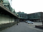 Exterior of Hoboken Terminal. Photo taken by Brian Weinberg, 03/25/2001.