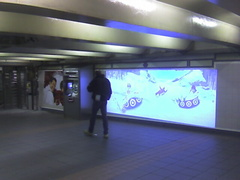 a Target video advertisement by way of a Monster Media projection system @ 34 St - Herald Sq. This is in the 35 St mezzanine. Ph