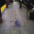 Large blob of spilled paint or tar @ 72 St (1/2/3) southbound platform. Photo taken by Brian Weinberg, 8/31/05.