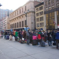 The line for Megabus on the morning of the Monday after Thanksgiving