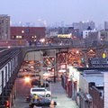 167 St station as seen from 170 St station (4). Photo taken by Brian Weinberg, 3/26/2003.