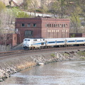 MNR P32AC-DM 221 @ Marble Hill (Hudson Line). Photo taken by Brian Weinberg, 4/27/2004.