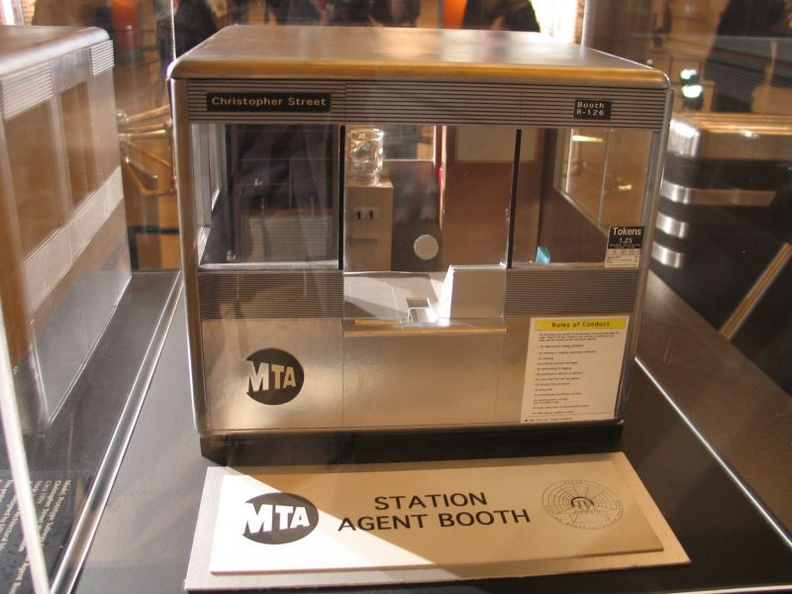 a model of the new style token booth