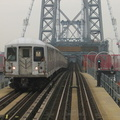 R-42 @ Williamsburg Bridge (M). Photo taken by Brian Weinberg, 1/3/2005.