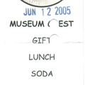 2005 NYCT Roadeo - Museum guest ticket