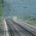 Riverdale (MNCR Hudson Line). Note the trespassers crossing the tracks. Photo taken by Tamar Weinberg, 7/24/2005.