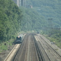 MNCR M7A @ Riverdale (MNCR Hudson Line). Note the trespassers on the west side of the tracks. Photo taken by Tamar Weinberg, 7/2
