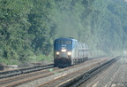 Amtrak P32AC-DM 700 and 716 @ Riverdale (MNCR Hudson Line). Photo taken by Tamar Weinberg, 7/24/2005.