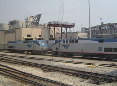 Amtrak P42DC 26 & 130 @ Chicago, IL. Photo taken by David Lung, June 2005.