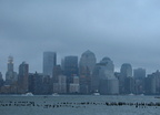 Lower Manhattan skyline. Photo taken by Brian Weinberg, 9/14/2005.