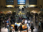 Main Concourse (with Lamborghini Gallardo) @ Grand Central Terminal. Photo taken by Brian Weinberg, 9/28/2005.