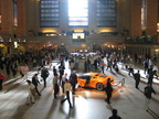 Main Concourse (with Lamborghini Gallardo) @ Grand Central Terminal. Photo taken by Brian Weinberg, 9/29/2005.