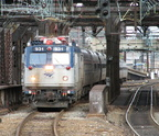 Amtrak AEM-7 931 @ Newark Penn Station. Photo taken by Brian Weinberg, 10/23/2005.