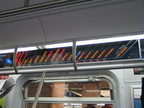 The FIND (Flexible Information and Notice Display) being evaluated on R-160B 8713 @ Hoyt-Schermerhorn. This photo shows the LED