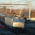 Amtrak AEM-7AC 925 @ Elizabeth, NJ. Photo taken by Brian Weinberg, 12/18/2005.