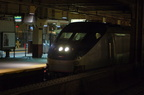 Amtrak HHP-8 650 @ Newark Penn Station. Photo taken by Brian Weinberg, 12/18/2005.