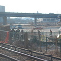 The (non) scene at the Yankee Stadium Park & Ride. Photo taken by Brian Weinberg, 12/21/2005.