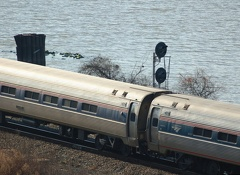 Amtrak Amfleet I Amcoach (ADA) 44671 & Amfleet I Regional Coachclass 82531 @ Inwood Movable Bridge (Train 285). Photo taken