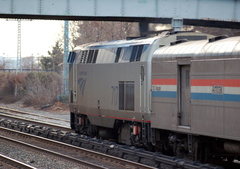 Amtrak P32AC-DM 717 @ Riverdale (Train 48 - Lake Shore Limited). Photo taken by Brian Weinberg, 1/8/2006.