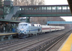 MNCR P32AC-DM 219 @ Riverdale (Hudson Line). Photo taken by Brian Weinberg, 1/12/2006.