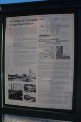 History of the area around the NJT Newark City Subway (NCS) Orange Street station. Photo taken by Brian Weinberg, 1/15/2006.