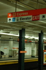 "Curious ""Express"" sign @ Walnut-Locust (SEPTA Broad Street Subway) even though that is the last stop on the express. P"