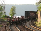 Tail end of freight train @ Spuyten Duyvil (MNCR Hudson Line). Photo taken by Brian Weinberg, 5/17/2006.