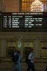 New Haven Line Departure Board @ Grand Central Terminal showing the special US OPEN trains to Mamaroneck. Photo taken by Brian W