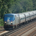 Amtrak P32AC-DM 708 @ Riverdale (Train 291, Ethan Allen Express). Photo taken by Brian Weinberg, 7/9/2006.