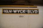 Briarwood - Van Wyck Blvd (E/F) - name tablet toward the middle of the Manhattan-bound platform. Photo taken by Brian Weinberg,