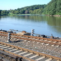 Dismantled third rail @ Spuyten Duyvil (MNCR Hudson Line). Photo taken by Brian Weinberg, 7/24/2006.