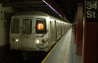 R-46 6072 @ 34 St - Herald Sq (F). Photo taken by Brian Weinberg, 7/26/2006.